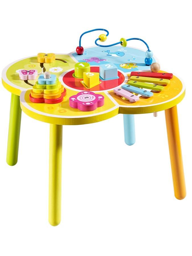 Drevený edukačný stolík Baby Mix