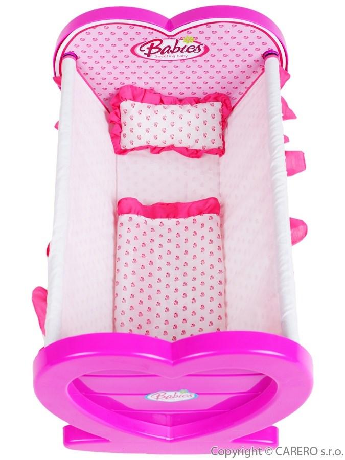 Kolíska pre bábiky Baby Mix ružová