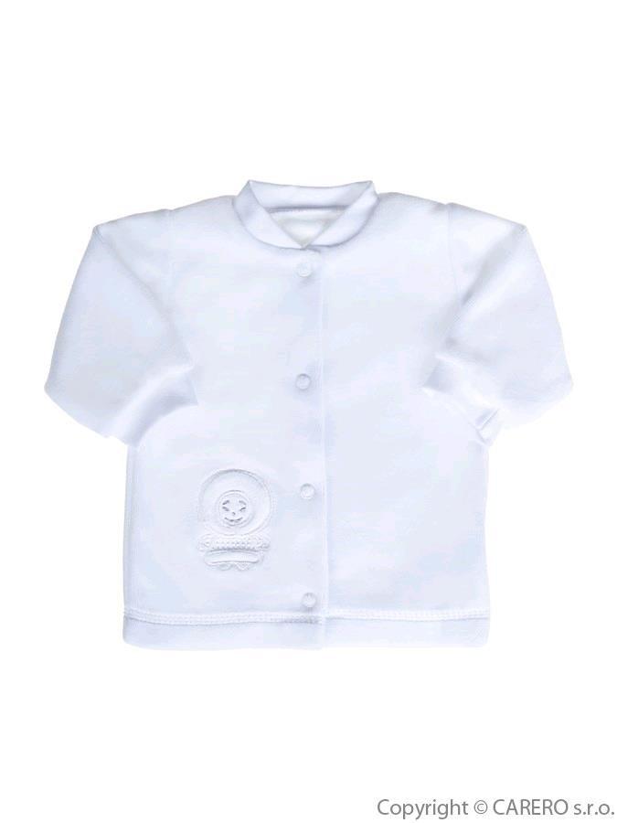 Dojčenský semišový kabátik Baby Service biely