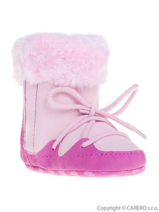 Detské zimné capáčky Bobo Baby ružové