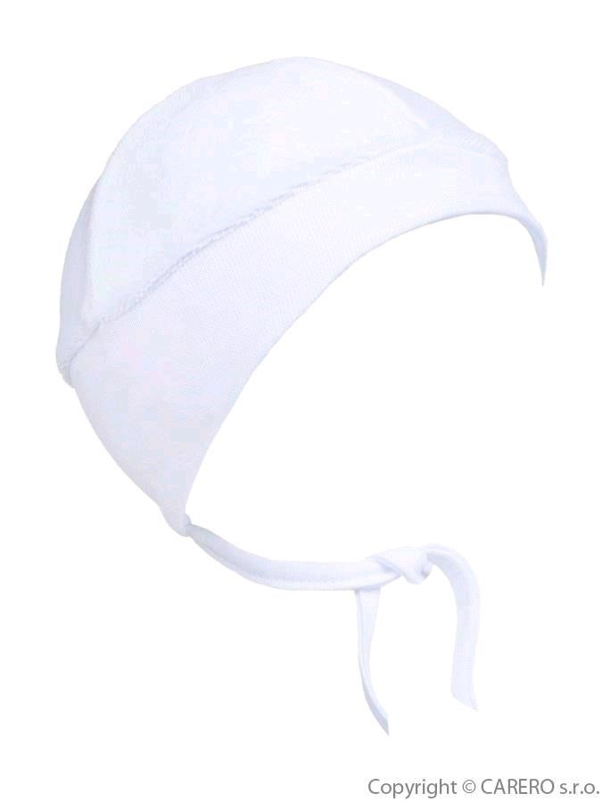 Semišová dojčenská čiapočka Baby Service biela