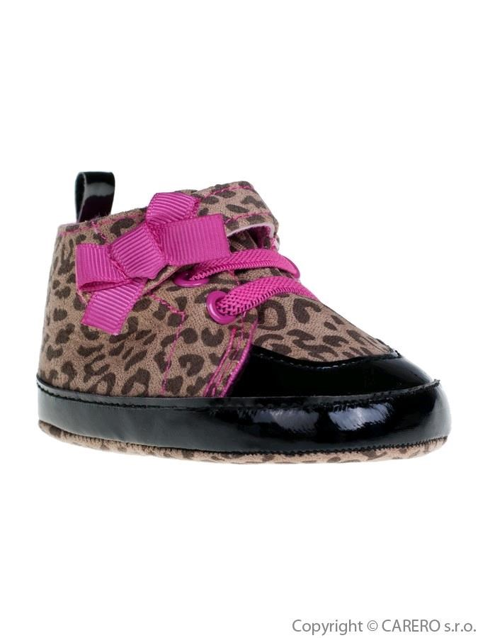 Detské topánočky Bobo Baby hnedé so vzorom