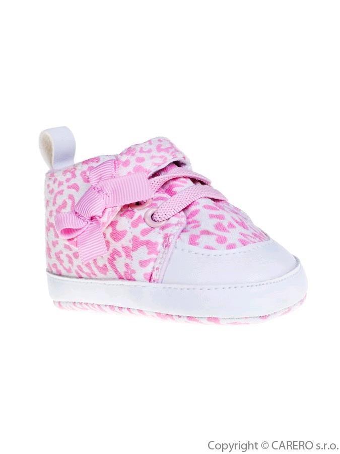 Detské topánočky Bobo Baby ružové so vzorom