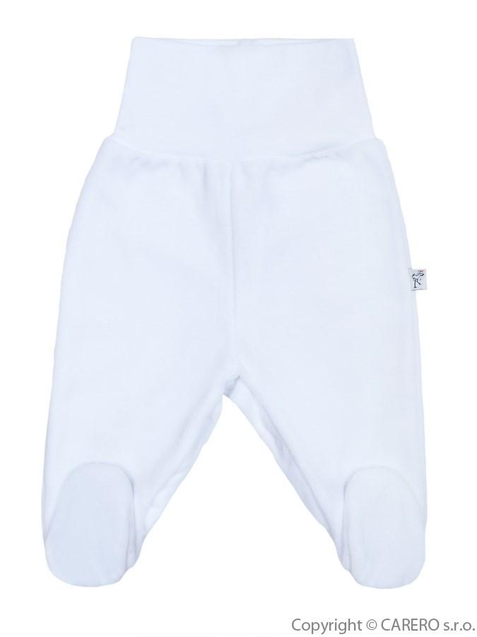 Dojčenské semišové polodupačky Baby Service biele