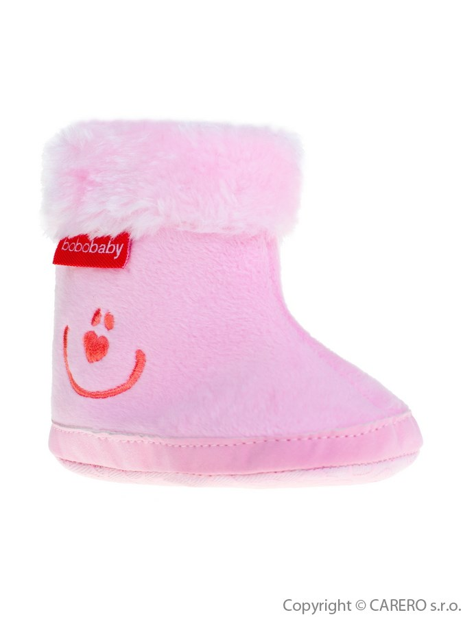 Detské zimné capáčky Bobo Baby ružové smile