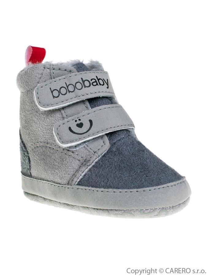 Detské zimné capáčky Bobo Baby sivé