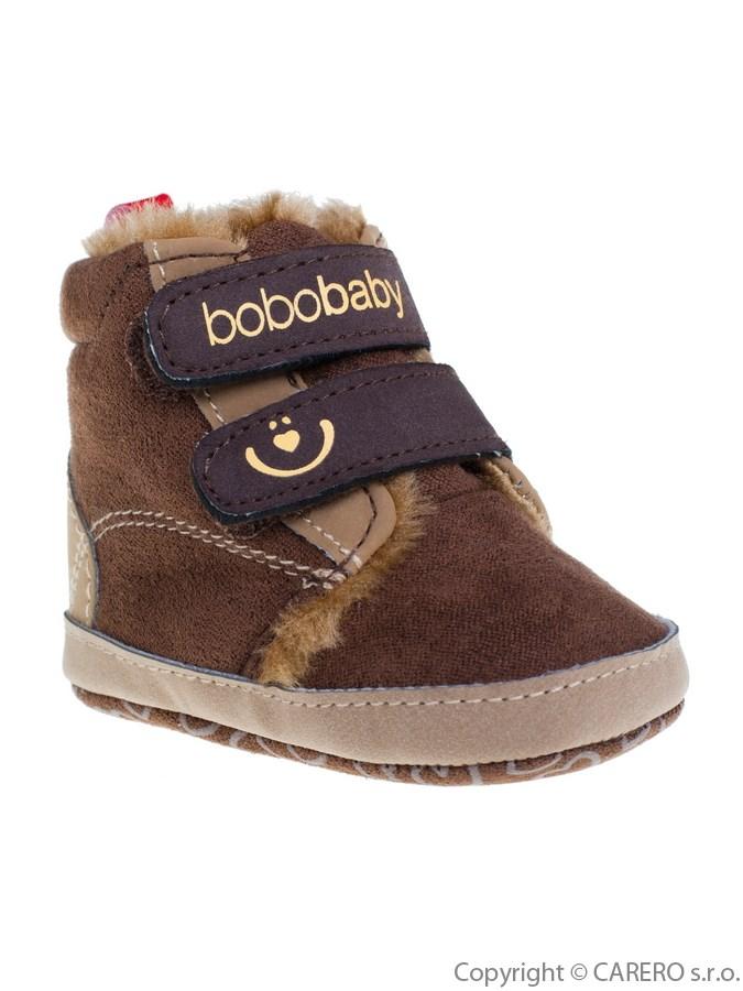 Detské zimné capáčky Bobo Baby tmavo hnedé