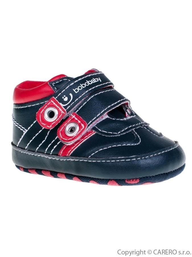 Detské topánočky Bobo Baby čierno-červené