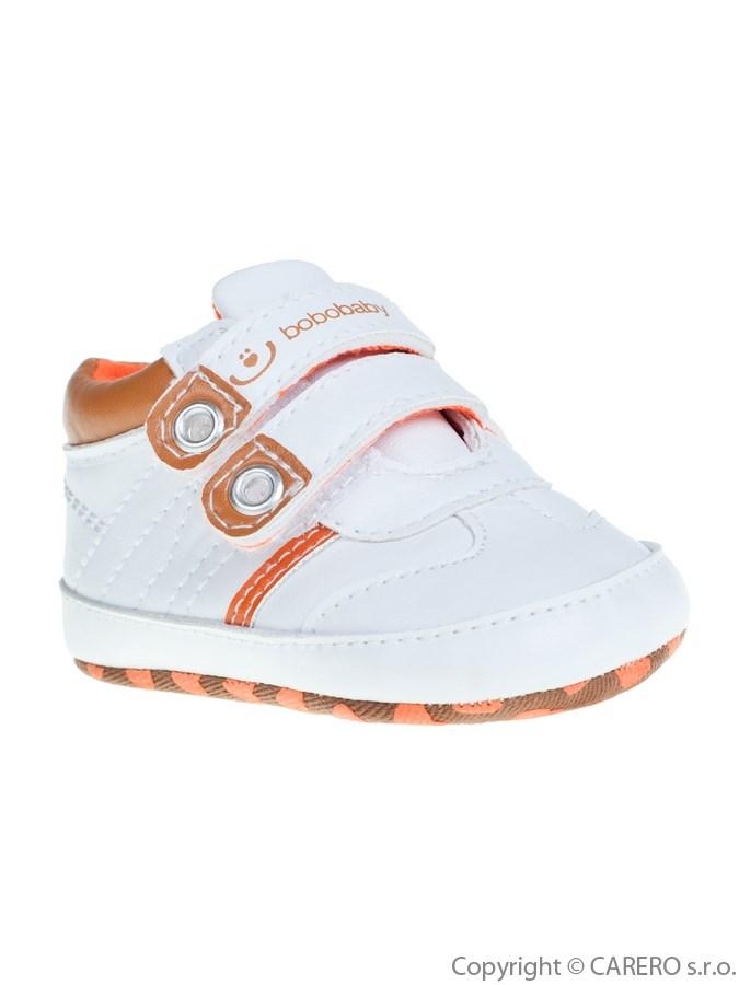 Detské topánočky Bobo Baby bielo-hnedé