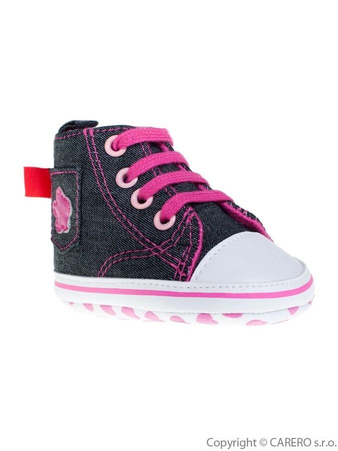 Detské džínsové capáčky Bobo Baby ružové