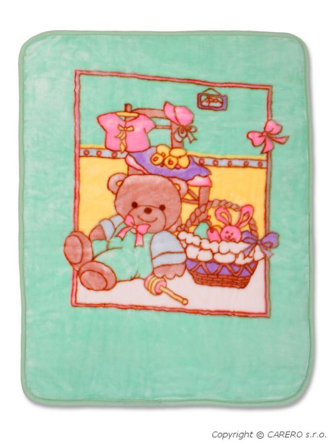 Detská španielska deka s obrázkom zelená