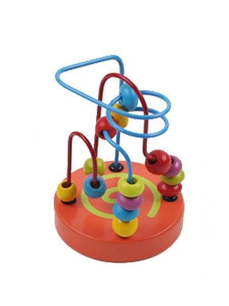 Drevená edukačná hračka Baby Mix labyrint oranžová