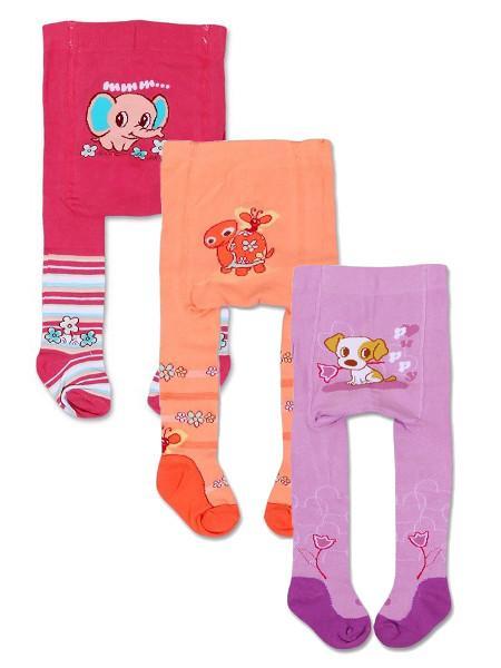 Pančucháčky bavlnené - balenie 3 ks pre dievčatká