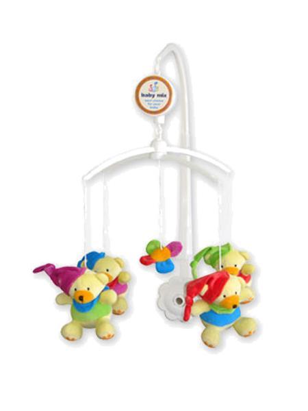 Kolotoč nad postieľku Baby Mix Medvedíky s čiapočkami