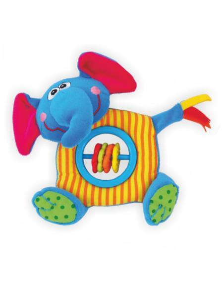 Plyšové hrkálka s pískátkem Baby Mix sloník