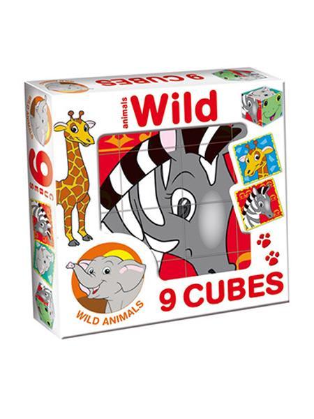 Skladacie obrázkové kocky Wild