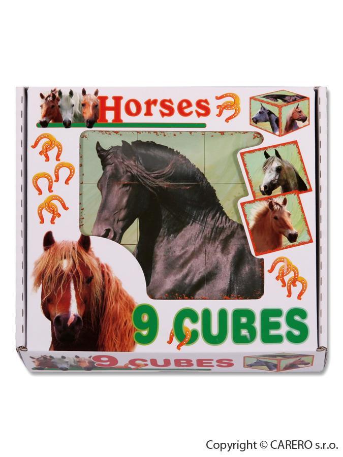 Skladacie obrázkové kocky Horses