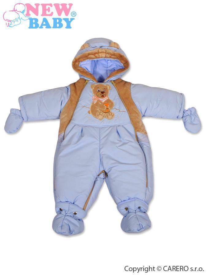 Vodeodolná zimná kombinézka 2v1 New Baby Medvedík