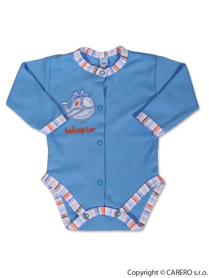 Dojčenské body dlhý rukáv Bobas Fashion s obrázkom Vrtuľník