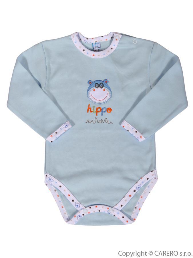 Dojčenské body dlhý rukáv Bobas Fashion s obrázkom Hrošík