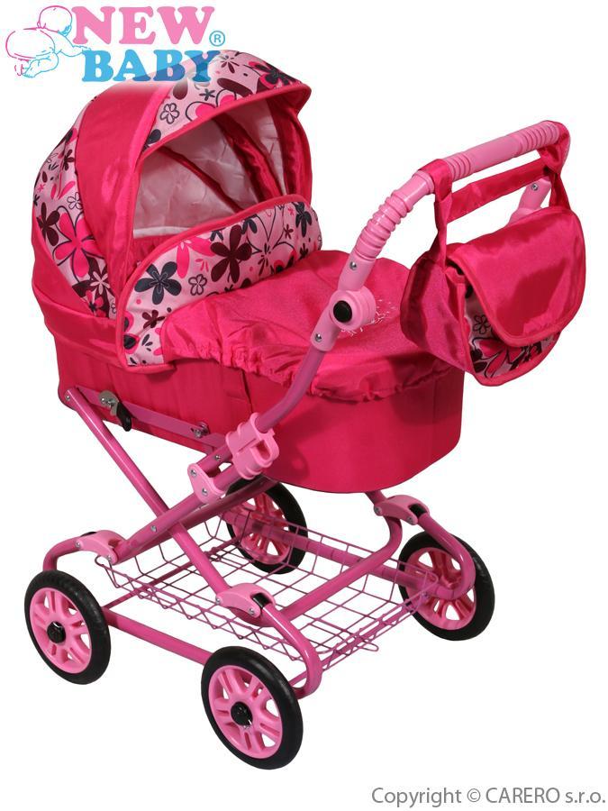 Detský kočík pre bábiky New Baby ružový