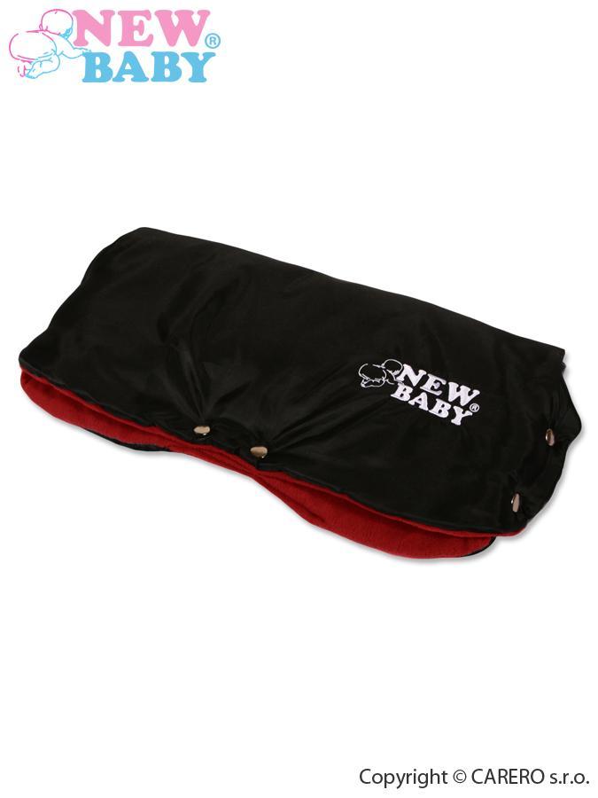 Rukávnik na kočík Classic Fleece black/red