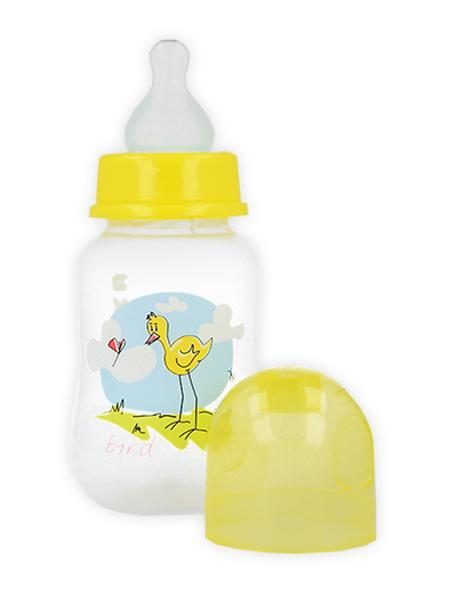 Fľaša s obrázkom Akuku 125 ml žltá