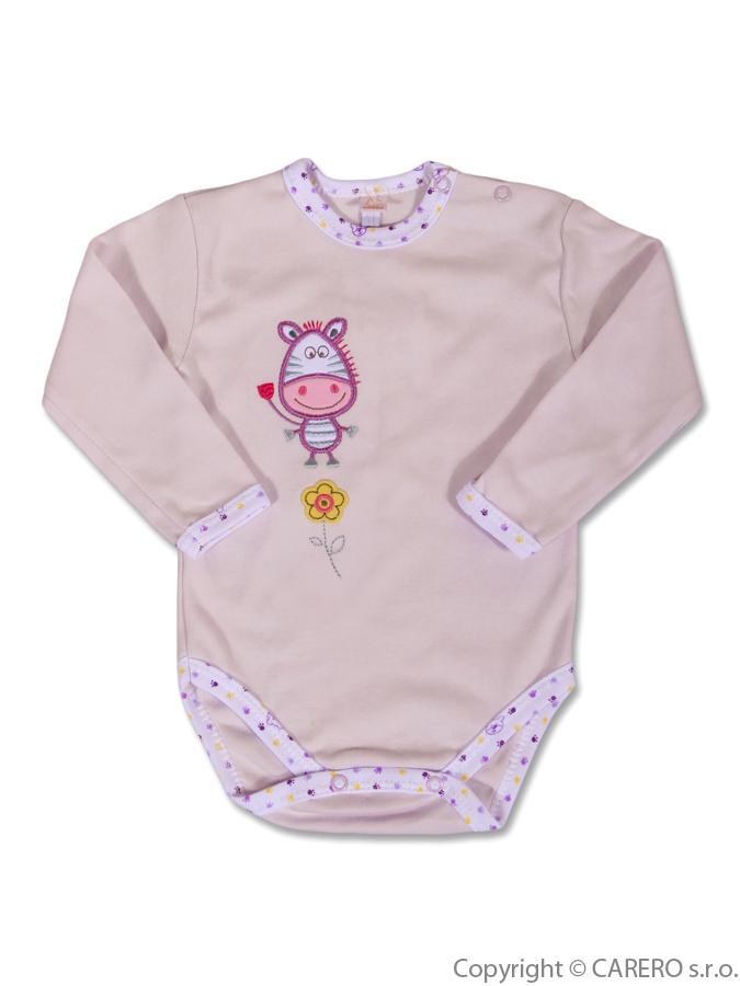 Dojčenské body dlhý rukáv Bobas Fashion s obrázkom Zebra