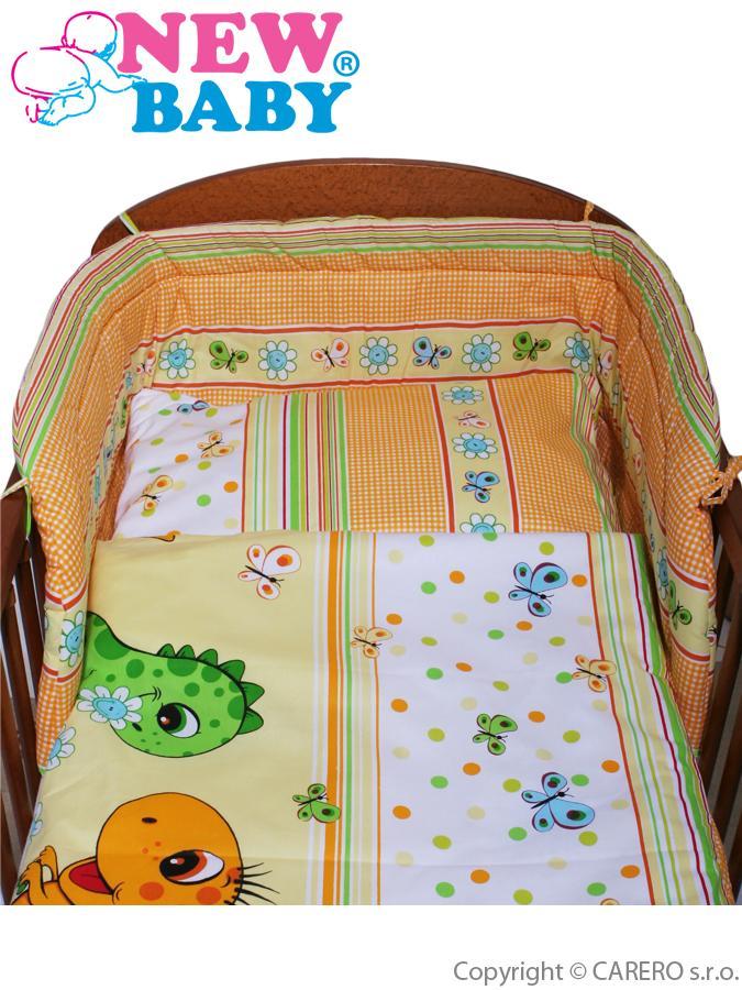2-dielne posteľné obliečky New Baby 90/120 cm oranžové s dinom