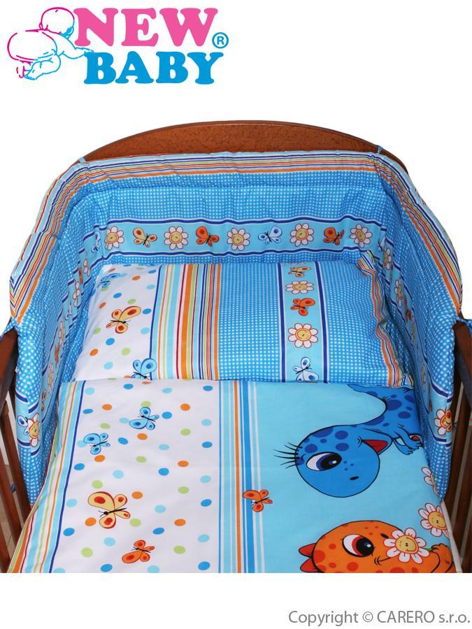 <p>3-dielne posteľné obliečky New Baby 90/120 cm modré s dinom</p>