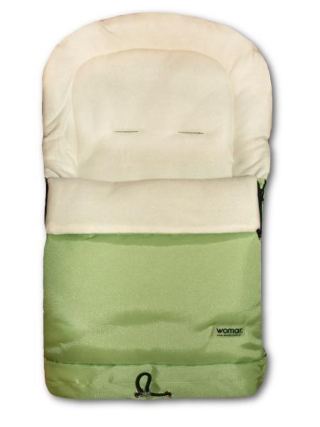 Fusak Womar 3v1 - fleece zelený