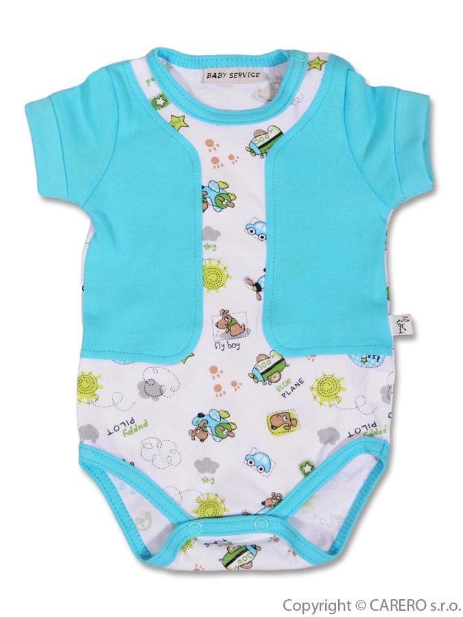 Dojčenské body s krátkym rukávom Baby Service Pilot