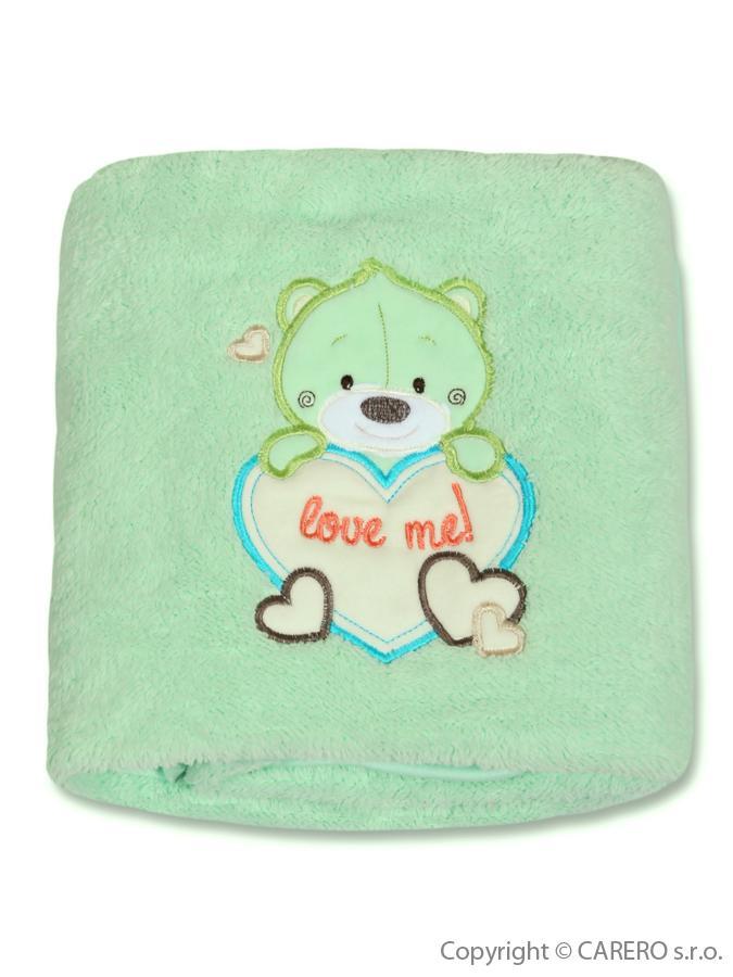 Detská chlpatá deka Bobas Fashion Medveď