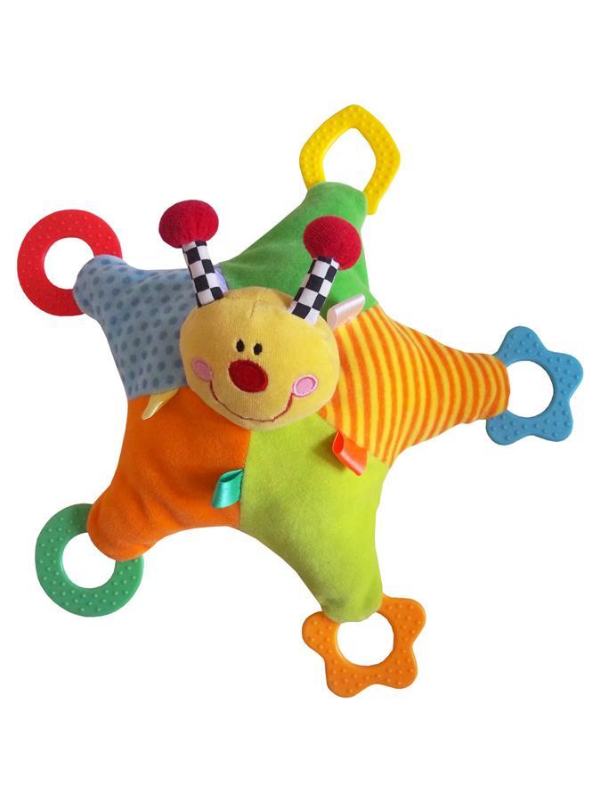 Plyšová hračka s hrkálkou a hryzátkami Baby Mix