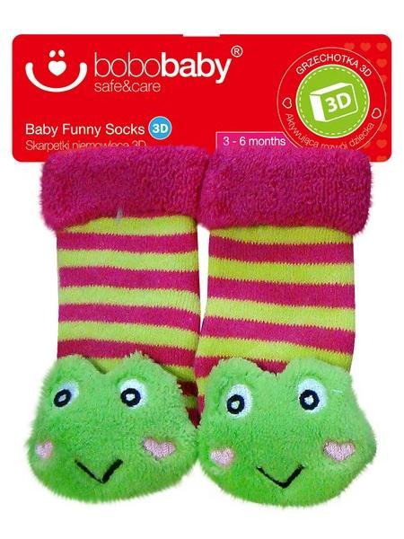Ponožky dojčenské s hrkálkou Bobo Baby žaba