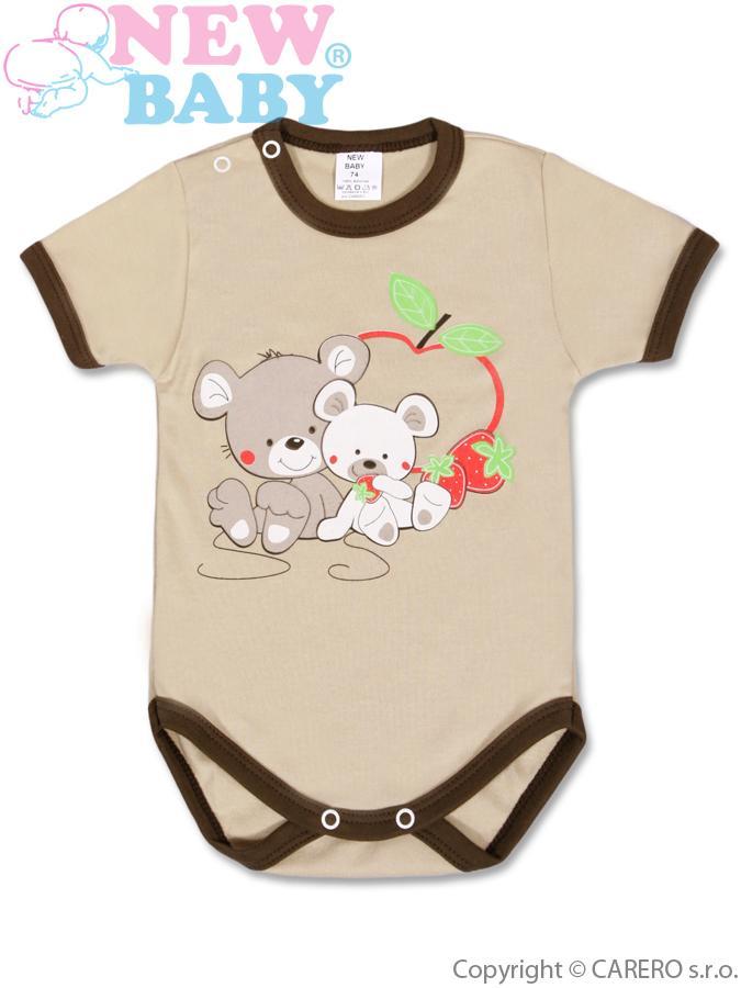 Detské body s krátkym rukávom New Baby Myšky s Jahôdkou