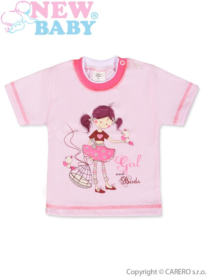 Detské tričko s krátkym rukávom New Baby Girl and Birds