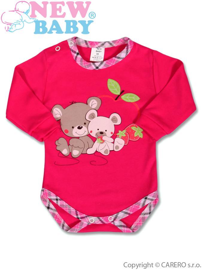 Detské body s dlhým rukávom New Baby Myšky s jahôdkou