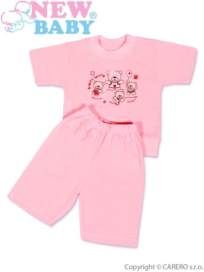 Detské letné pyžamo New Baby ružové