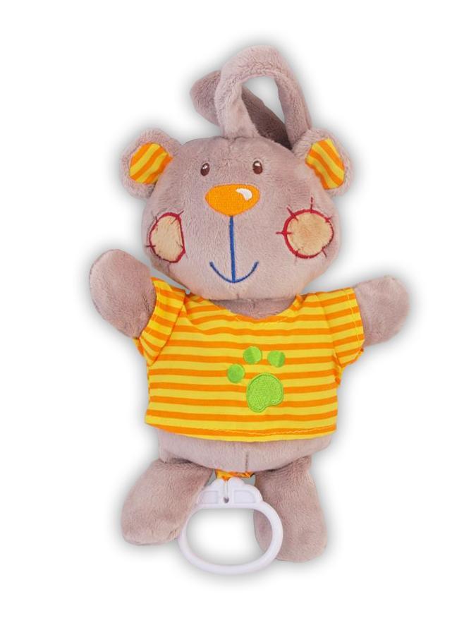 Plyšová hračka s hracím strojčekom Baby Mix Medvedík