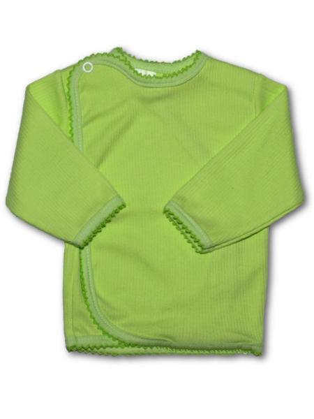 Dojčenská košieľka prúžkovaná New Baby zelená