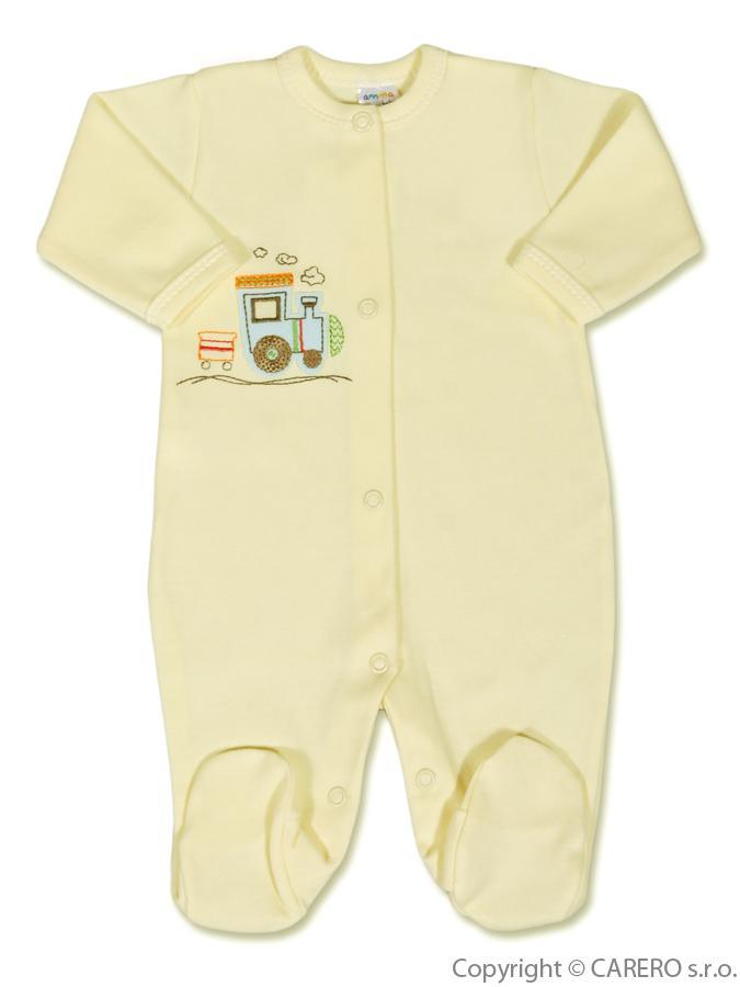 Dojčenský overal Amma Train béžový