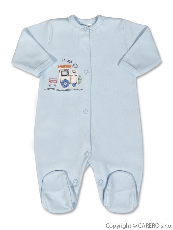 Dojčenský overal Amma Train svetlo modrý