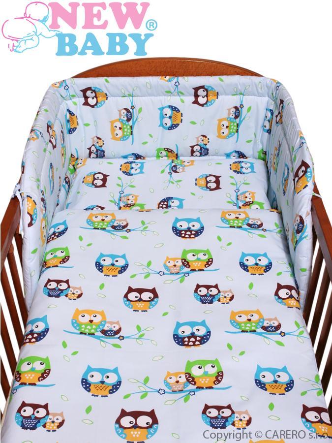 2-dielne posteľné obliečky New Baby 100/135 cm modre so sovou