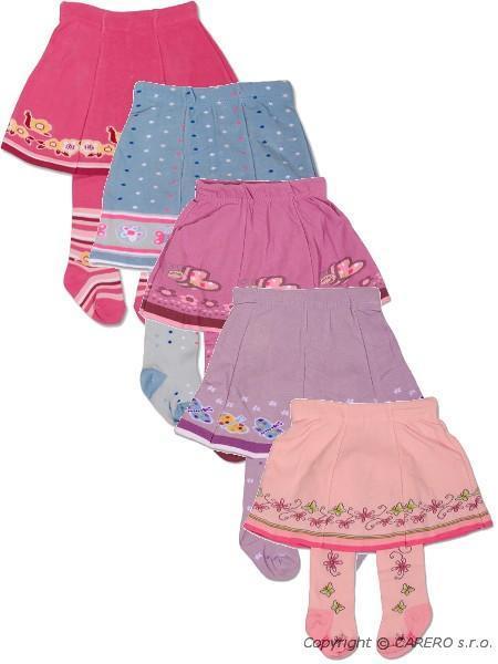 Punčocháčky bavlnené so sukničkou - balenie 5 ks
