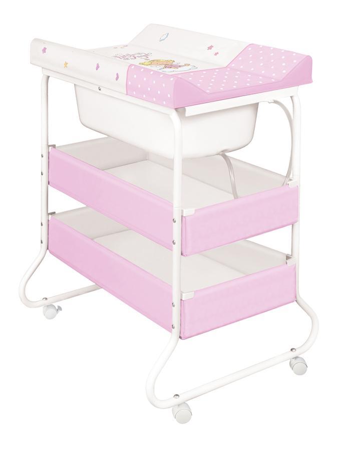 Prebaľovací stôl s vaničkou Ceba Susie anjelik ružový