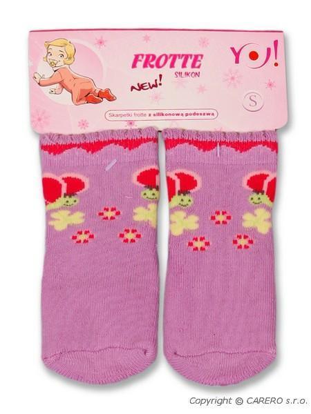 Froté ponožky fialové rôzne obrázky