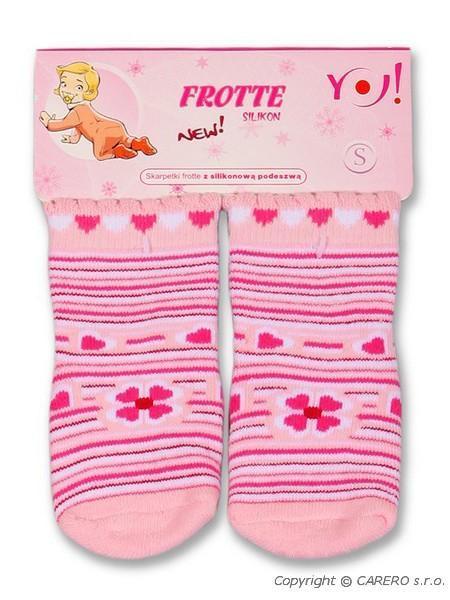 Froté ponožky svetlo ružové rôzne obrázky