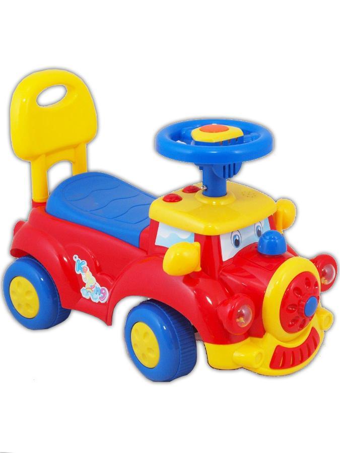Detské Jezdítko so zvukom Baby Mix Happy Train červené