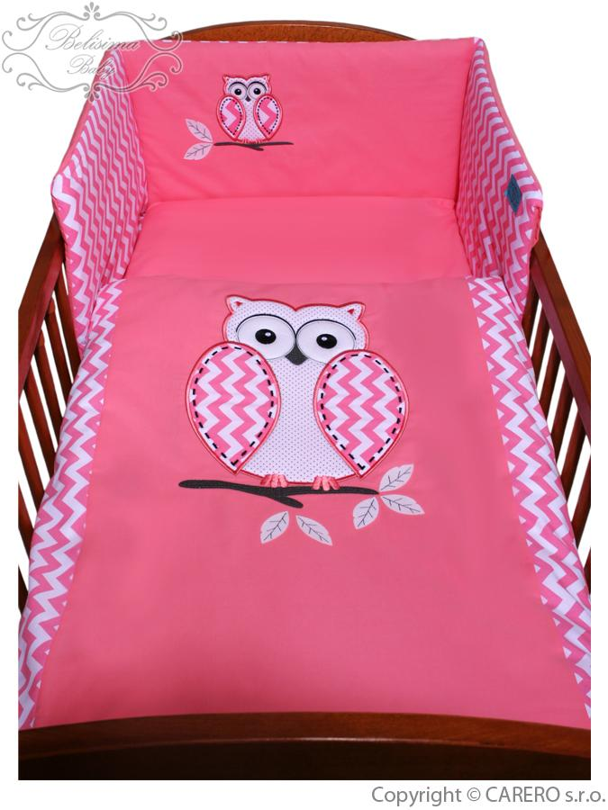 3-dielne posteľné obliečky Belisima Múdra Sovička 100/135 ružové